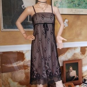 Stunning 90s Nicole Miller Collection Lace Dress